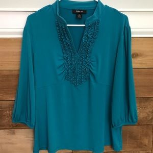 Style & Co Ruffle V-Neck Blouse XL
